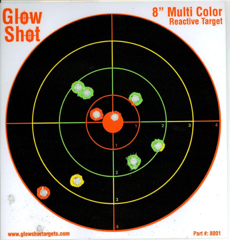 "75 Pack - 8"" Reactive Splatter Targets - Glowshot - Multi Color - Gun and Rif... - Chickadee Solutions - 1"