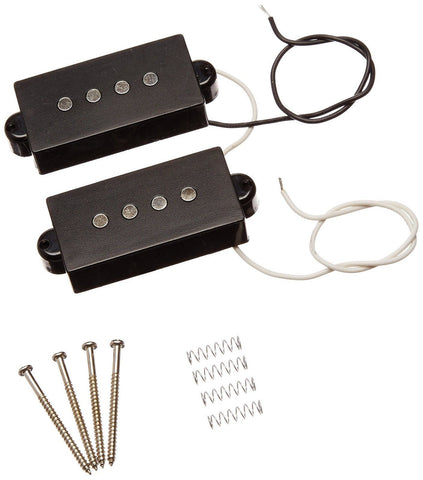 1set 4 String Noiseless Pickup Black for Precision P Bass Replacement - Chickadee Solutions - 1