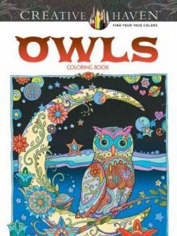 Creative Haven Owls Coloring Book (Adult Coloring) - Chickadee Solutions - 1
