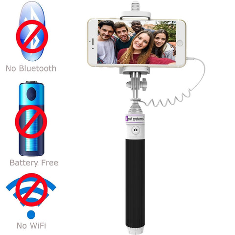 selfie stick with built in remote shutter for ios and android includes carry chickadee. Black Bedroom Furniture Sets. Home Design Ideas