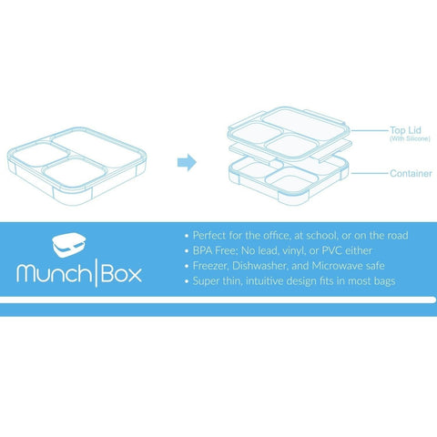 munchbox bento lunch box sleek edition purple ultra slim tray style leakp chickadee. Black Bedroom Furniture Sets. Home Design Ideas