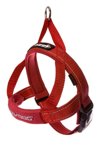 EzyDog Quick Fit Dog Harness Red Large EzyDog - Chickadee Solutions - 1