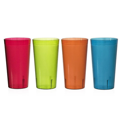 Caf Break-Resistant Plastic 32oz Restaurant-Quality Beverage Tumblers | Set o... - Chickadee Solutions