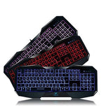 AULA SI-859 Backlit Gaming Keyboard with Adjustable Backlight Purple Red Blue... - Chickadee Solutions - 1