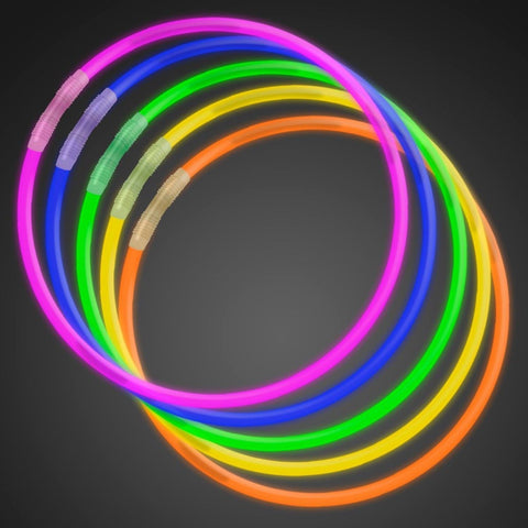 "50 22"" Premium Glow Stick Necklaces Assorted Colors Glowsticks - Chickadee Solutions - 1"