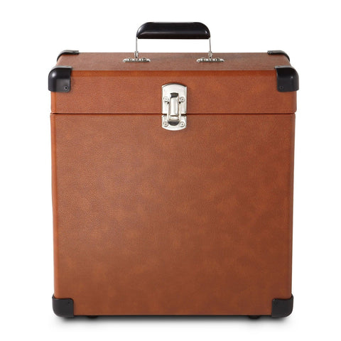 Crosley CR401-TA Record Carrier Case for 30+ Albums Tan - Chickadee Solutions - 1