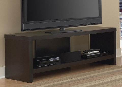 "60"" Hollow Core TV Stand Black Forest Finish 60-In. TV Stand - Chickadee Solutions - 1"