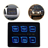 Mictuning 12V/24V 6 Gang LED Switch Panel Slim Touch Control Panel Box for Ca... - Chickadee Solutions - 1