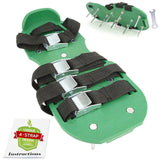 Lawn Aerator Shoes w/Metal Buckles and 4 Straps Heavy Duty Spiked Aerator San... - Chickadee Solutions - 1