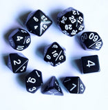 Luckyjj Polyhedral 10-die Gemini Dice Set-a Variety of Color Style Black - Chickadee Solutions - 1