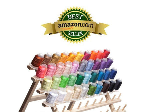40 Spools Polyester Embroidery Machine Thread Bright and Beautiful Colors for... - Chickadee Solutions - 1