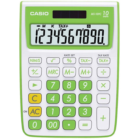 Casio MS-10VC Standard Function Calculator Green - Chickadee Solutions