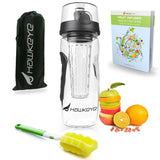Premium Fruit Infuser Water Bottle Complete Bundle - 32 Oz - Leak Proof - BPA... - Chickadee Solutions - 1