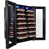 AKDY 32 Bottle Dual Zone Thermoelectric Freestanding Wine Cooler Cellar Chill... - Chickadee Solutions - 1