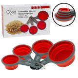 Collapsible Measuring Cups - 4pc Nesting Silicone Set By Good Cooking - Chickadee Solutions - 1