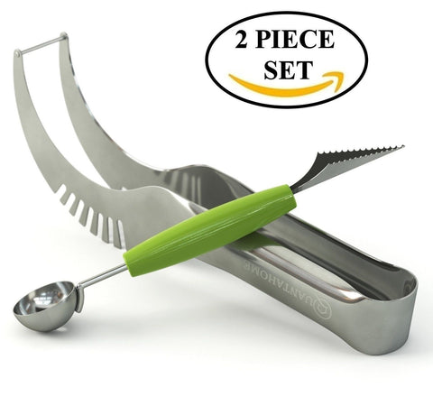 *OFFER* Quantahome Watermelon slicer & Melon Baller with De-corer. Apple Core... - Chickadee Solutions - 1