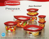Rubbermaid 14-Piece New Premier Food Storage Container Set BPA Free Red - Chickadee Solutions