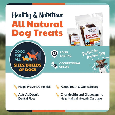 wyldlife pets bully sticks beef tendons for dogs combo pack 100 natural an chickadee. Black Bedroom Furniture Sets. Home Design Ideas