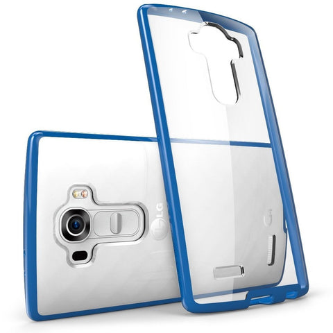 i-Blason Halo Series Clear Scratch Resistant Bumper Case for LG G4 - Clear/Blue - Chickadee Solutions - 1