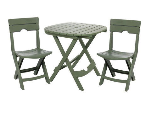 Adams Manufacturing 8590-01-3731 Quik-Fold Cafe Bistro Set Sage - Chickadee Solutions - 1