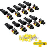 E-TING 10 Kit 2 Pin Way Waterproof Electrical Wire Connector Plug - Chickadee Solutions - 1