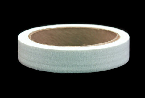 "1"" White Colored Premium-Cloth Book Binding Repair Tape 