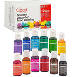 Food Coloring Liqua-Gel - 12 Color Variety Kit in .75 fl. oz. (20ml) Bottles - Chickadee Solutions - 1