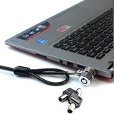 RUBAN Notebook Lock and Security Cable (PC/Laptop) Two Keys 6.2 foot (Black) - Chickadee Solutions - 1