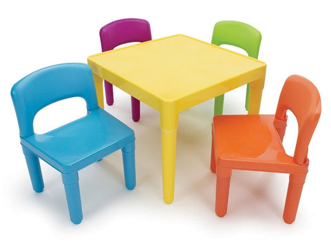 Tot Tutors Kids' Table and 4-Chair Set Plastic Tot Tutors - Chickadee Solutions - 1