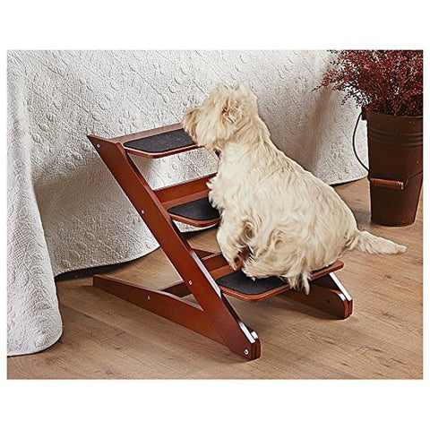 3-step Foldable Wood Pet Steps - Chickadee Solutions