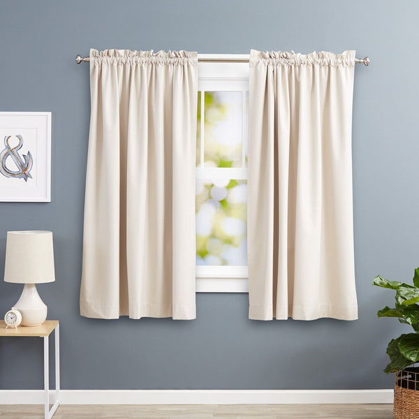 AmazonBasics Blackout Curtains - 52 x 63 Inches Beige (2