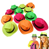 Dazzling Toys Neon Colored Plastic Gangster Hats Kids Costume Party Booth Hat... - Chickadee Solutions - 1