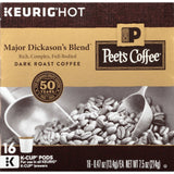 Peets Coffee & Tea Single Cup Coffee Dark Roast Major Dickason's Blend K-cup ... - Chickadee Solutions - 1