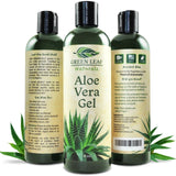 Green Leaf Naturals Organic Aloe Vera Gel Pure Daily Moisturizer for Skin Fac... - Chickadee Solutions - 1