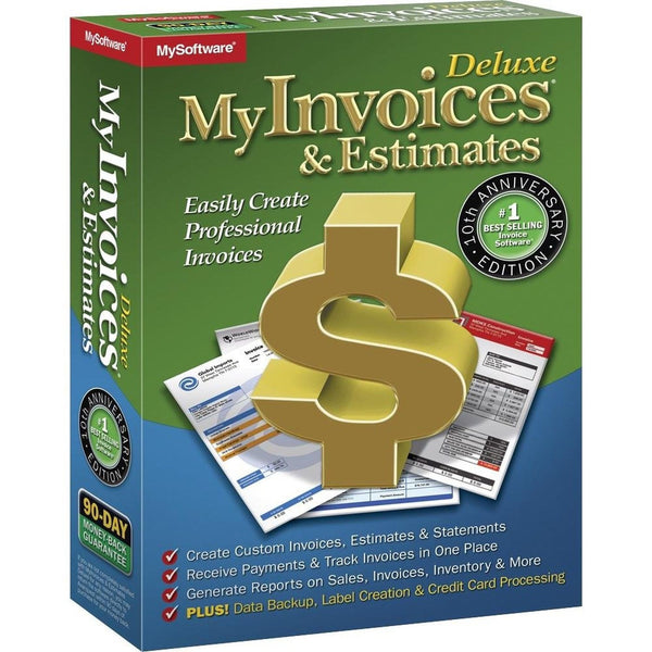 Avanquest myinvoices estimates deluxe 10 windows for Deluxe invoices and estimates