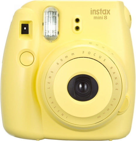 Fujifilm Instax Mini 8 Instant Film Camera (Yellow) Yellow Base - Chickadee Solutions - 1