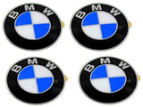 BMW Wheel center cap Emblems (4) insignia badge 64.5mm OEM e46 e60 e90 e92 - Chickadee Solutions