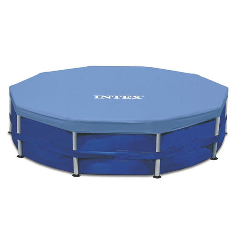 Intex 15-Foot Round (10-inch overhang) Pool Cover Blue Intex - Chickadee Solutions