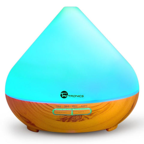 Essential Oil Diffuser TaoTronics 300ml Wood Grain Aroma Diffuser with Cool M... - Chickadee Solutions - 1