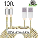 ONSON Lightning Cable2Pack 10FT Nylon Braided Charging Cable iPhone CordCharg... - Chickadee Solutions - 1