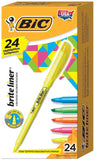 BIC Brite Liner Highlighter Chisel Tip Assorted Colors 24-Count - Chickadee Solutions - 1