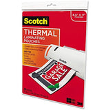 "Scotch Letter-Size Thermal Laminating Pouches 3mm 11.5"" x 9"" 20-Pack Ideal fo... - Chickadee Solutions - 1"