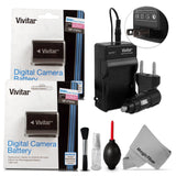 (2 Pack) Vivitar NP-FW50 Battery and Charger Kit for SONY Alpha A7 A7R A7S A5... - Chickadee Solutions - 1