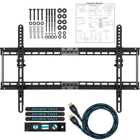 "Cheetah Mounts APTMM2B TV Wall Mount for 32-65"" TVs Bundle with 10-feet Braid... - Chickadee Solutions - 1"