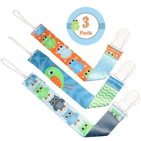 ** LAUNCH PROMO** Pacifier Clip Boys by Liname - 3 Pack - Premium Quality Uni... - Chickadee Solutions - 1