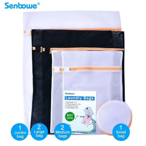 Senbowe Set of 6 Mesh Laundry Bags Laundry Mesh lingerie Wash Bags - 2 Large ... - Chickadee Solutions - 1