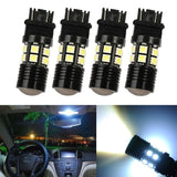 HOTSYSTEM 4x White Cree with Projector 12-SMD 3156 3157 3057 3757 4114 4157 L... - Chickadee Solutions - 1