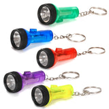 Plastic Large Beam Flashlight Key Chains (1 dz) other - Chickadee Solutions
