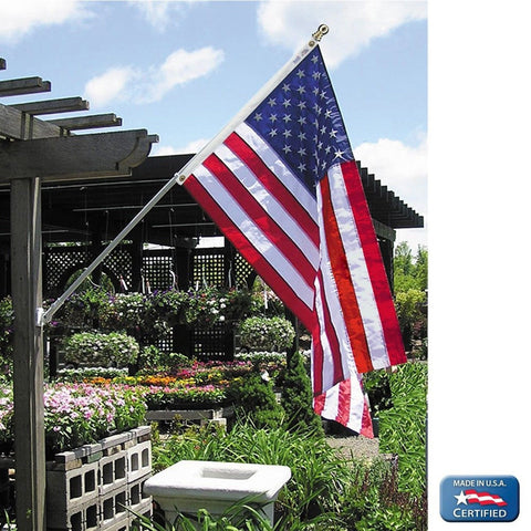American Flag 4x6 ft. Nylon SolarGuard Nyl-Glo by Annin Flagmakers 100% Made ... - Chickadee Solutions - 1
