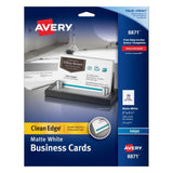 Avery Two-Side Printable Clean Edge Business Cards for Inkjet Printers Matte ... - Chickadee Solutions - 1